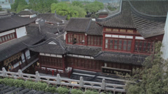 Roofs of traditional Chinese houses in Yuyuan Garden Stock Footage