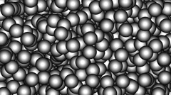 Random appearing small metallic balls E-05 Stock Footage