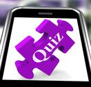 Stock Illustration of quiz smartphone means internet question and answer game