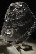 Large Clear Quartz Gemstone Slab Stock Photos