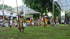Temple dancers in bali, indonesia. Stock Footage