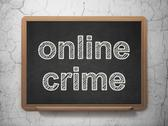 Stock Illustration of Protection concept: Online Crime on chalkboard background