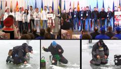 Minsk, Belarus. 22-23 February, 2014. 11-th ice fishing world championship. Stock Footage