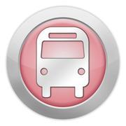 "icon/button/pictogram ""bus / ground transportation"" - stock illustration"