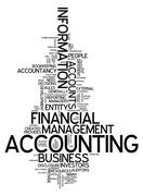 """word cloud """"accounting"""" - stock illustration"""