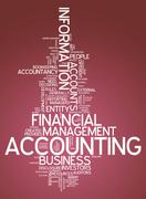 """Word cloud """"accounting"""" Stock Illustration"""