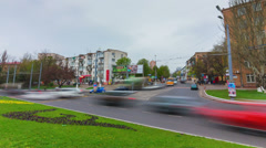 Timelapse of city traffic in Odessa, Ukraine Stock Footage