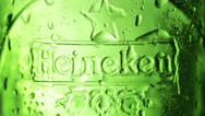 Stock Video Footage of Heineken Lager Beer