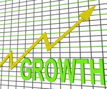 Growth graph chart shows increase sales profit Piirros