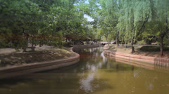 river in Yuyuan Garden - stock footage