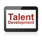 Education concept: Talent Development on tablet pc computer Stock Illustration