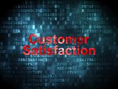 Stock Illustration of Advertising concept: Customer Satisfaction on digital background