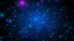 Falling blue particles Stock Footage