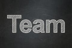 Finance concept: Team on chalkboard background - stock illustration