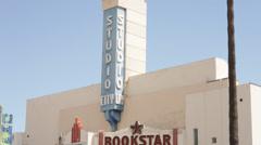 Book Star Ventura Blvd Studio City Stock Footage