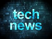 Stock Illustration of News concept: Tech News on digital background