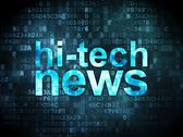 Stock Illustration of News concept: Hi-tech News on digital background
