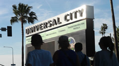 Universal City Sign - stock footage