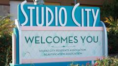 Studio City Sign Stock Footage