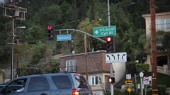 Ventura Blvd to Laurel Canyon Sign Stock Footage