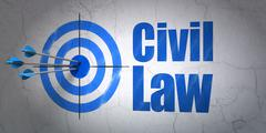 Target and Civil Law on wall background Stock Illustration