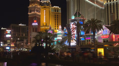 Timelapse Casino Royale Venice Palazzo tower traffic car street Las Vegas Strip  Stock Footage