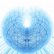 Spherical structure - stock illustration
