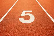 Stock Photo of number five on running track