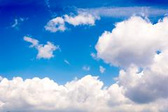 idylic pilvet - stock photo