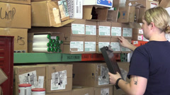 US Coast Guard, Military, Electrical shop inventory Stock Footage