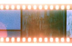Old vintage film strip.Retro style Stock Photos