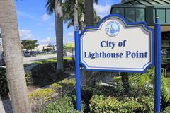City of lighthouse point Stock Photos
