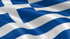 4K Greece Flag Stock Footage
