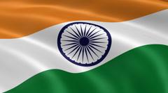 4K India Flag Stock Footage