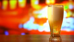 Beer Pouring into Glass Stock Footage
