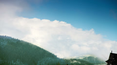 4K Ultra HD (4096 x 2304 px):Tatra Mountains - Clouds over the tops Stock Footage