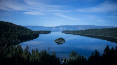 Moon Lit Emerald Bay Time Lapse Stock Footage