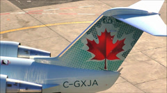 Air Canada Airlines logo Stock Footage