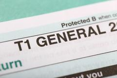 T1 general forms Stock Photos