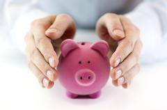 Protect your money - stock photo