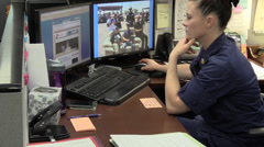 US Coast Guard, Military, supply officer - stock footage