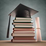 Graduation Books - stock illustration