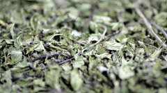 Dried mint (not loopable) Stock Footage