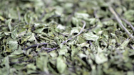 Stock Video Footage of dried mint (not loopable)