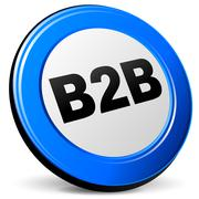 Vector 3d b2b icon Stock Illustration