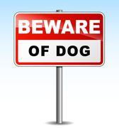 Vector beware dog illustration Stock Illustration