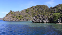 Wonderful lagoon in island Coron, Philippines - stock footage