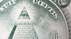Dollar bill macro rotating Stock Footage