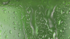 Water drops on glass - stock footage