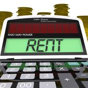 rent calculator means payments to landlord or property manager - stock illustration